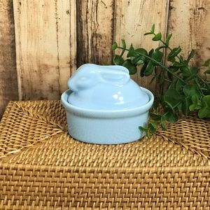 Blue Bunny Rabbit Trinket Dish by BIA